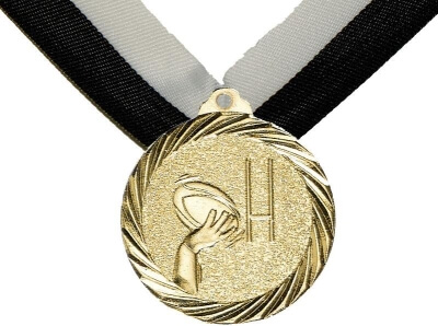 Medaille Rugby, 32mm inkl. Band, zzgl. Beschriftung