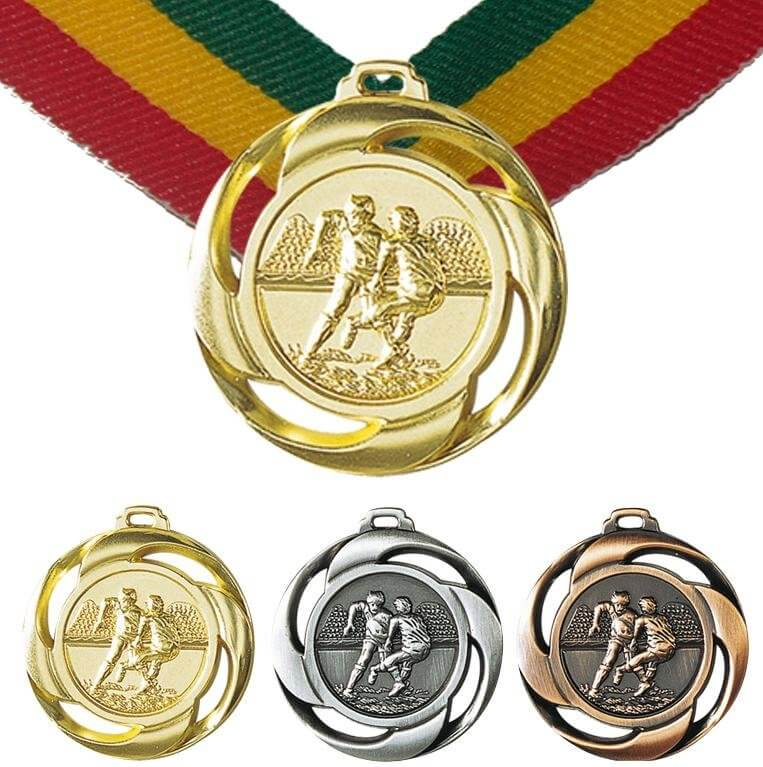 Rugby Medaille,40mm inkl. Band, zzgl. Beschriftung