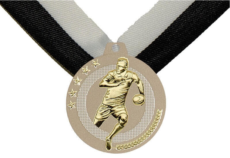 50 mm Rugby Medaille inkl. Band, zzgl. Beschriftung