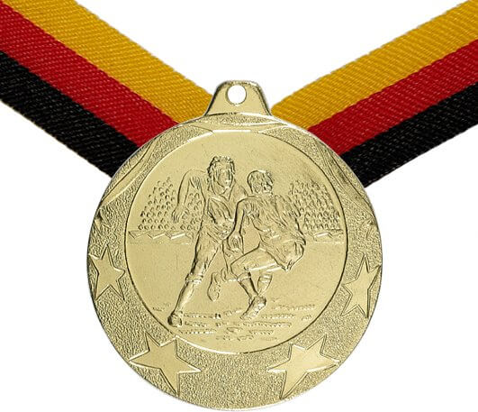 Rugby Medaille 50mm inkl. Band, zzgl. Beschriftung